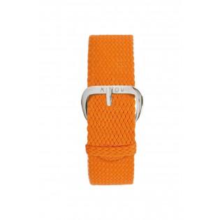 Bracelet Tressé Orange - montre Millow