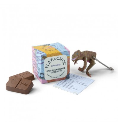 Chocolat surprise biologique Dinosaures - Play in Choc