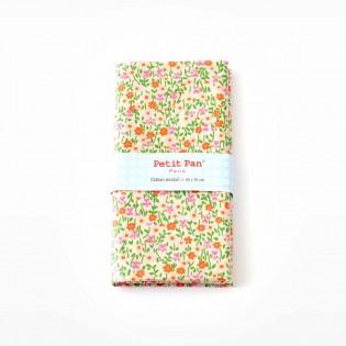 Coupon coton enduit Petit Pan Flower Power Rose