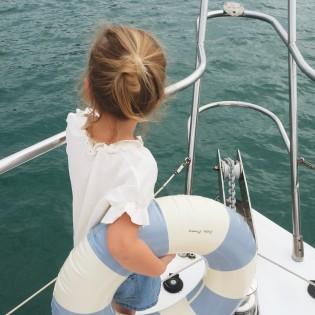 Bouée ronde Anna Nordic Blue - Les Petites Pommes