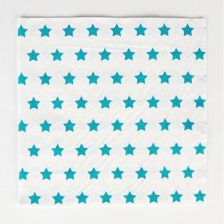 20 serviettes en papier Etoiles turquoises - My Little Day