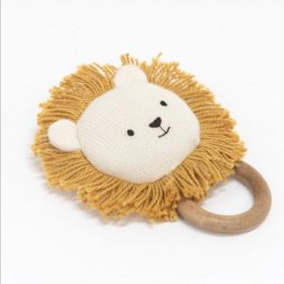 Hochet Lion coton bio - Meri Meri