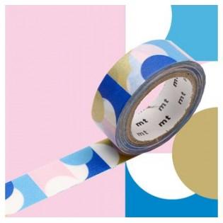 Masking Tape Demi-cercles or/rose/bleu