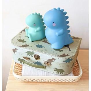 Valisette en carton Dinosaures Kaki (L)