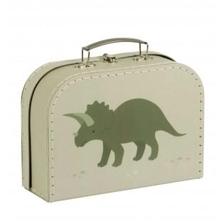 Valisette en carton Dinosaures Kaki (M)