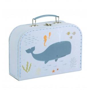 Valisette en carton Baleine (M)