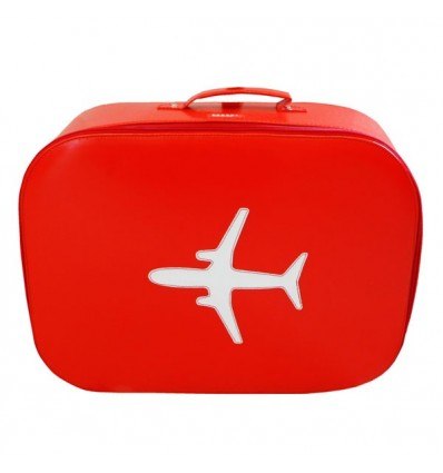 Valise avion rouge (Grande taille)