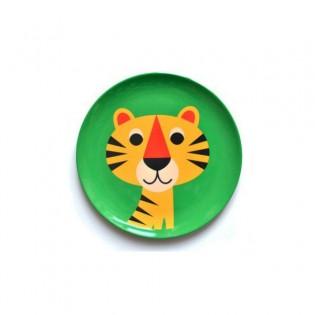 Assiette tigre Ingela Arrhenius