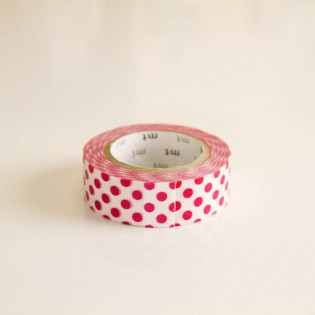 Masking tape pois rouges