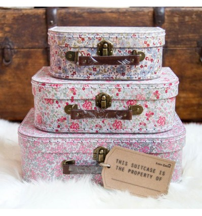 Set 3 valises en carton liberty