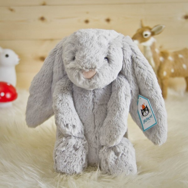 peluche lapin gris moyen jellycat. Black Bedroom Furniture Sets. Home Design Ideas