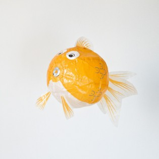 Kami fusen - Poisson orange