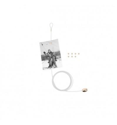 Porte photos fil blanc