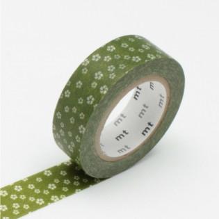 Masking tape olive et fleurs