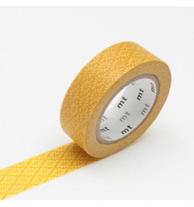 Masking tape motif fleurs moutarde