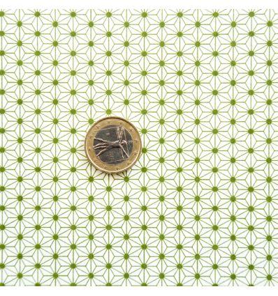 Papier japonais motif Asanoha vert