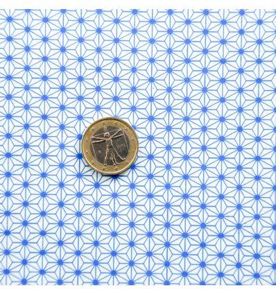 Papier japonais motif Asanoha bleu