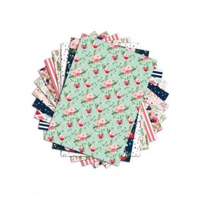 48 feuilles A4 aux motifs fleuris
