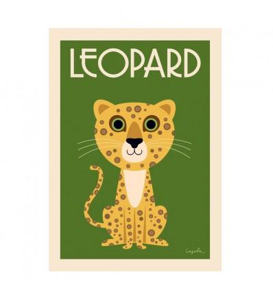Affiche Léopard d'Ingela P Arrhenius